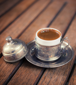 Turkish coffee in Traditional cup