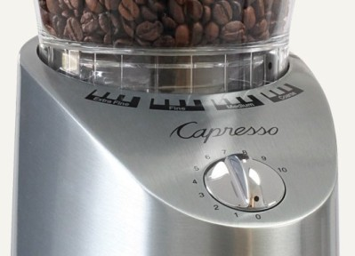 Capresso Infinity 565 coffee grinder Detail